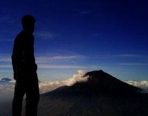 sindoro peak dengan background sumbing